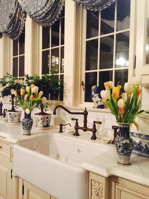 French Country Kitchen - Blue & White