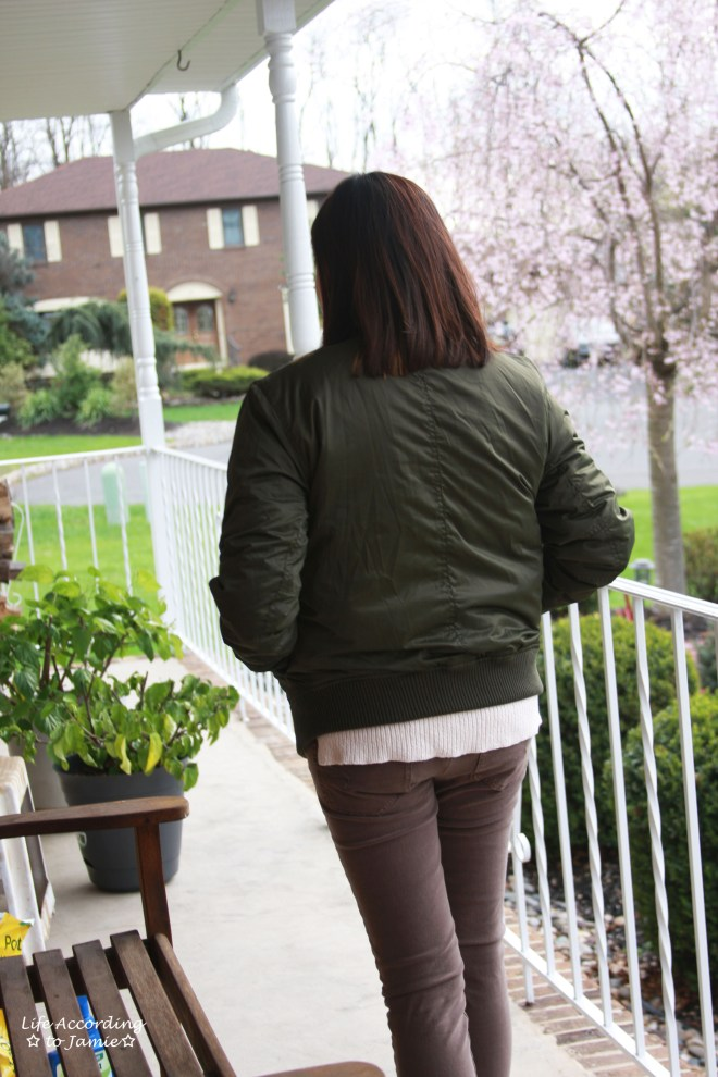 Khaki Green Bomber Jacket 9