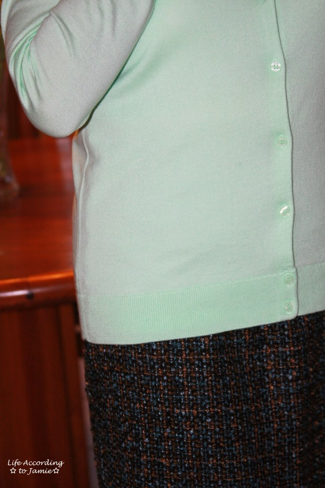Mint Cardigan + Tweed Skirt 6