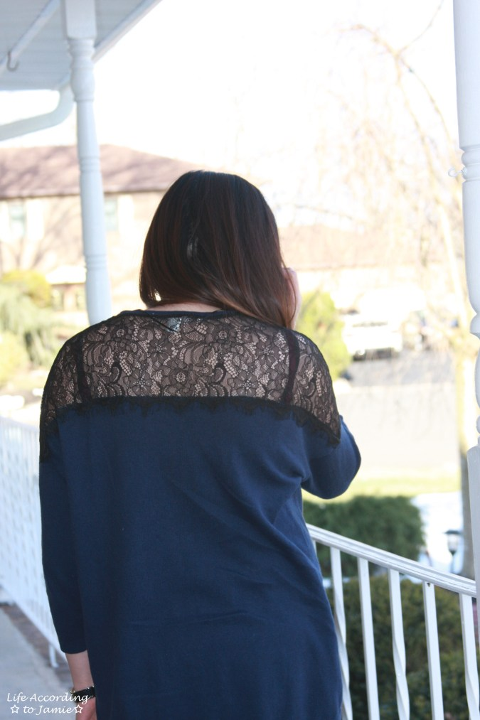 Navy + Black Lace Topped 4
