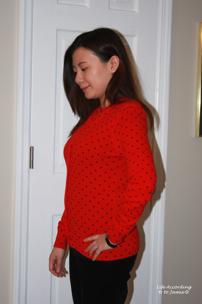 Red & Black Polka Dot Cardigan 4