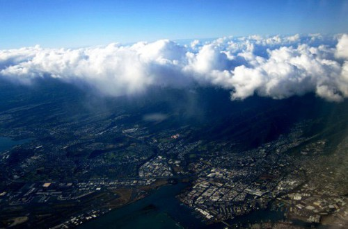 Airplane View - Honolulu