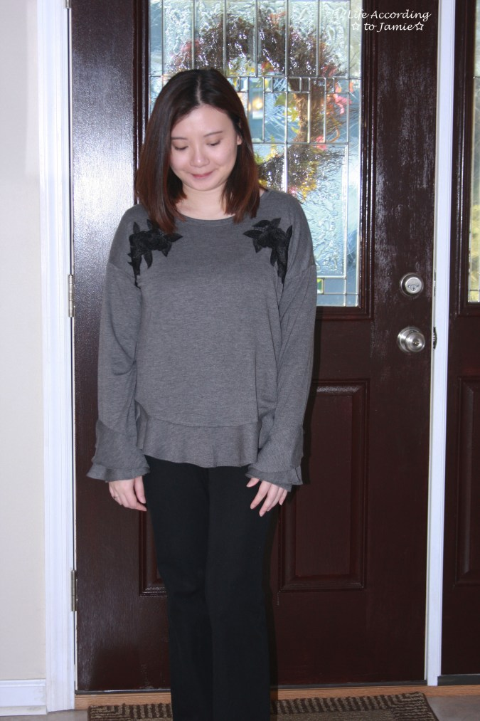 Floral Applique + Bell Sleeves