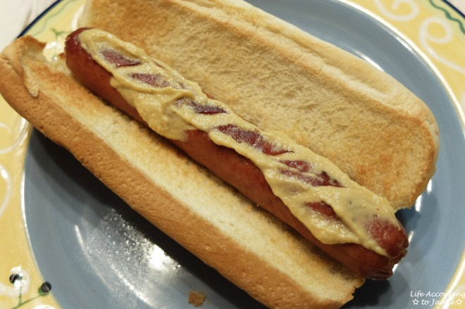 Hotdog + Dijon Mustard