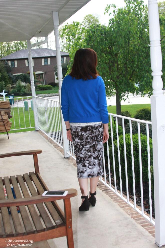 Lace + Scuba Knit Skirt 2