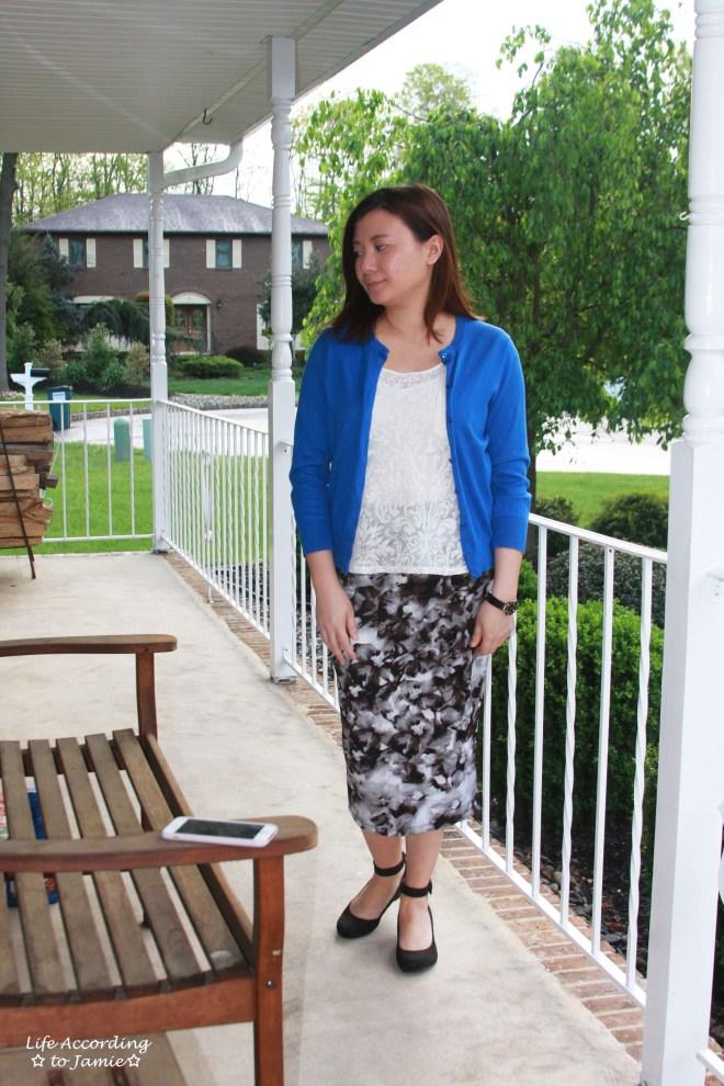 Lace + Scuba Knit Skirt 5