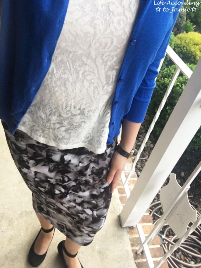 Lace + Scuba Knit Skirt 6