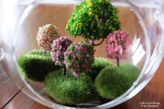 Mini Faux Flowering Tree Globes