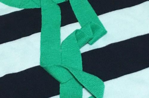 Mint + Navy Neck Tie Shirt