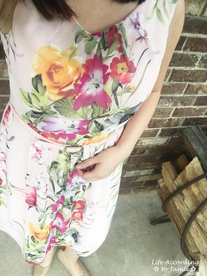 Soft Pink Floral Dress 8