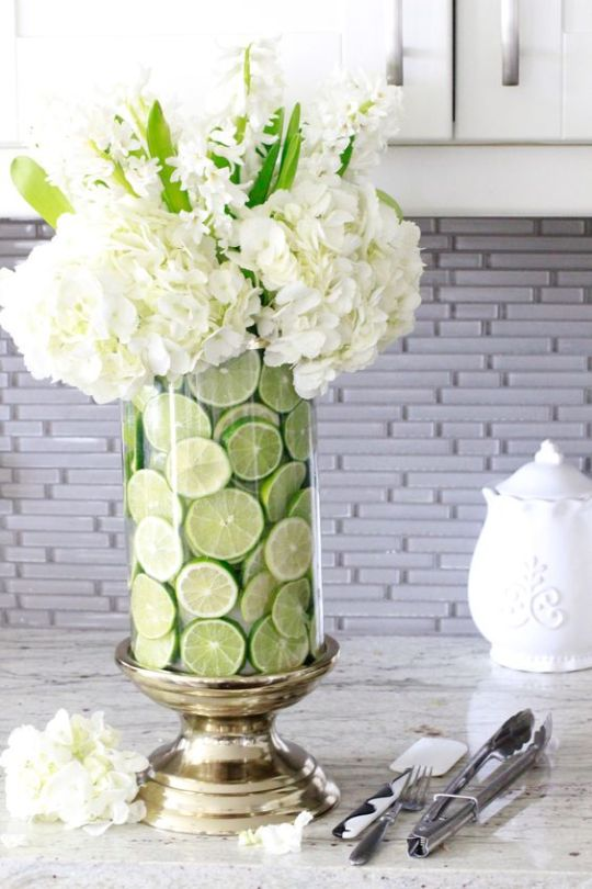 White Flowers & Limes