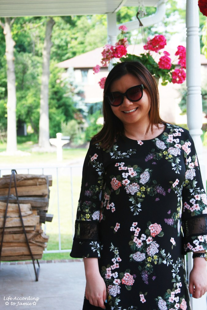 Dark Floral + Lace Dress 10