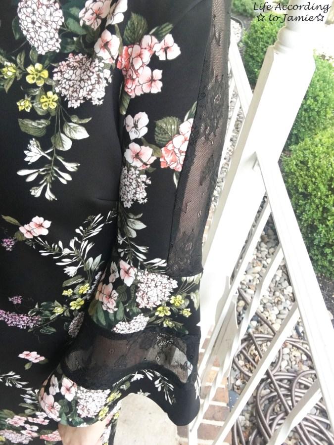 Dark Floral + Lace Dress 12