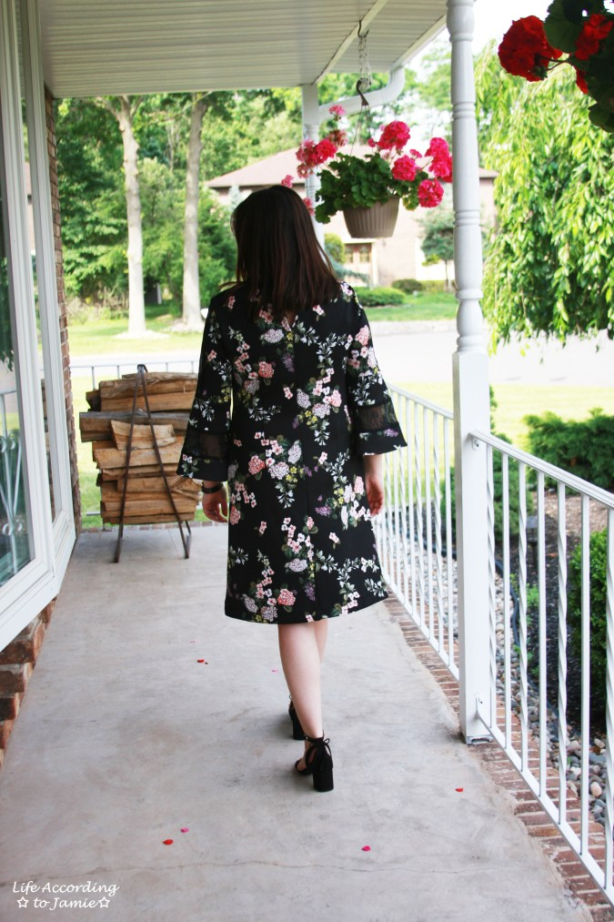 Dark Floral + Lace Dress 4