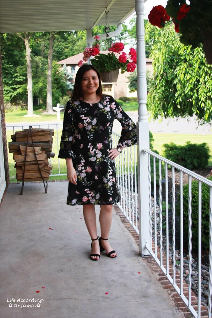 Dark Floral + Lace Dress