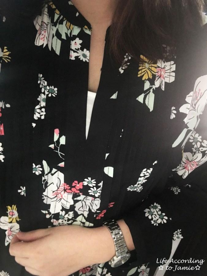 Dark Floral Shirt Dress 7