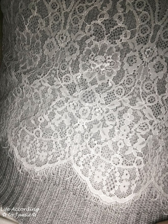 Lace Crop Sweater