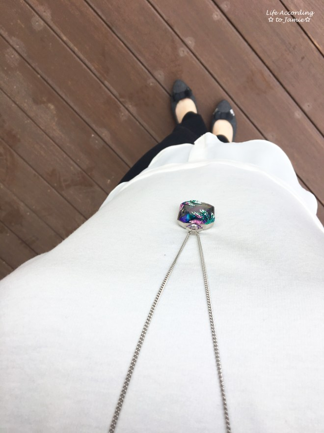 Layered Short Sleeve + Gisele Necklace