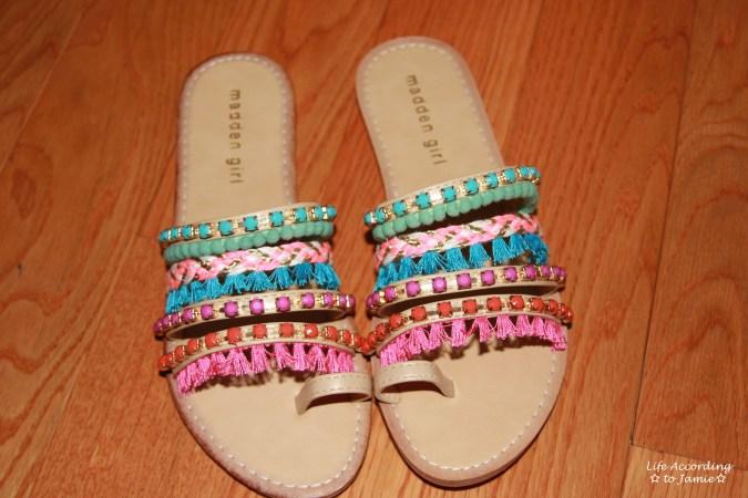 Madden Girl - Pompom + Fringe Sandals