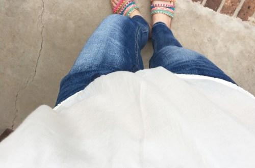 OTS Crochet Top + Pompom Sandals