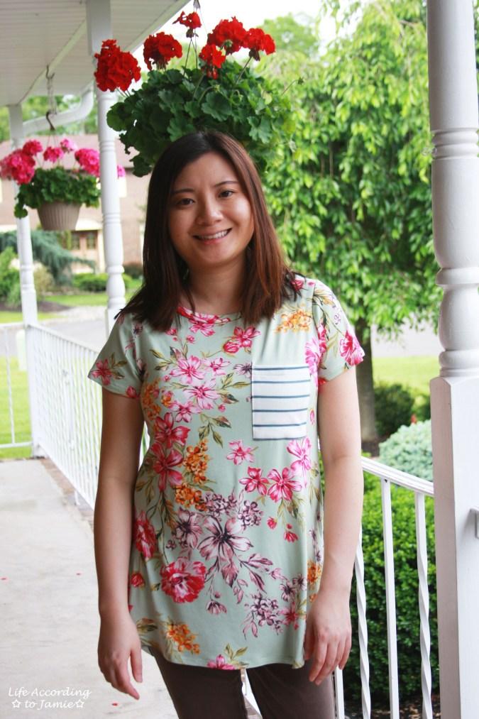 Sage Floral + Stripes 5