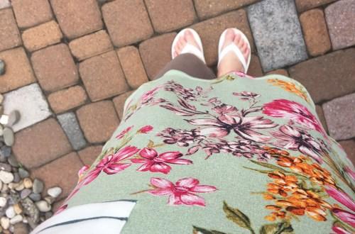 Sage Floral + Stripes