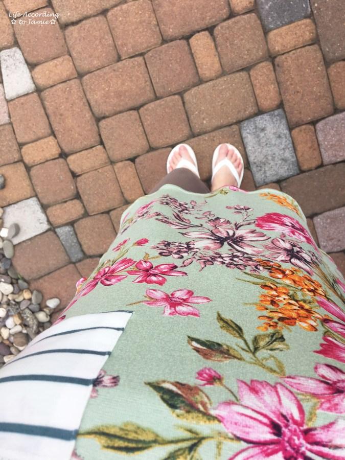 Sage Floral + Stripes 6