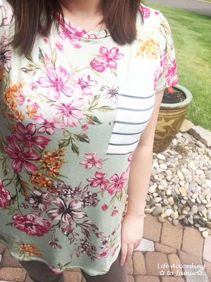 Sage Floral + Stripes 7