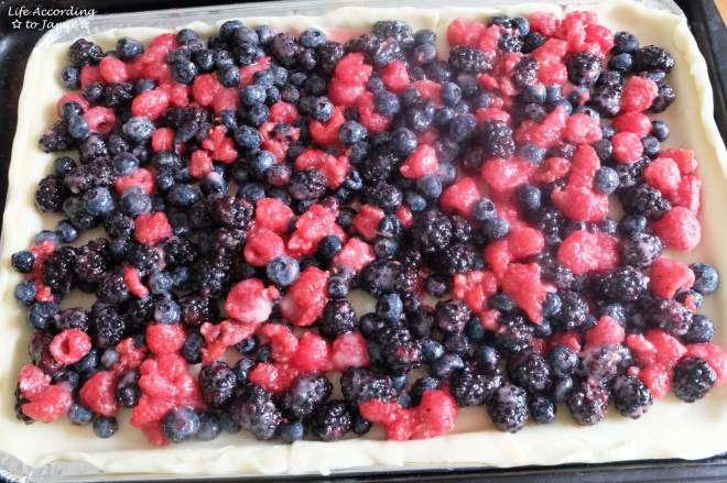 Mixed Berry Slab Pie