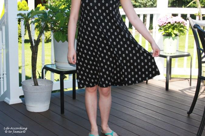Patterned Swing Dress 4