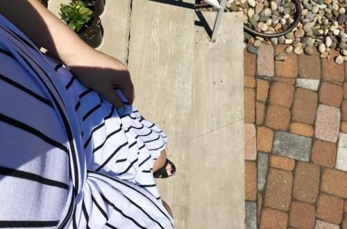 Striped Knot Twist Dress