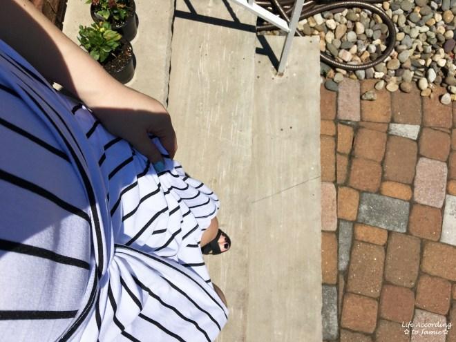Striped Knot Twist Dress 8