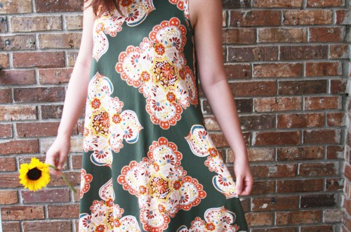 Eucalyptus Green Medallion Swing Dress