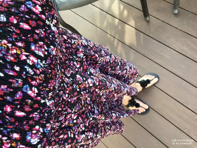 Smocked Floral OTS Dress 6