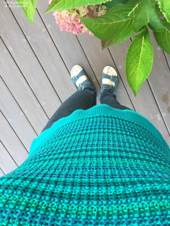 Bright Pine Striped Sweater Tank 1