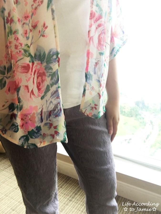 Jacquard Crop Pants + Floral Kimono 5