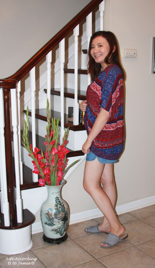 Patchwork Kimono + Tencel Shorts 1