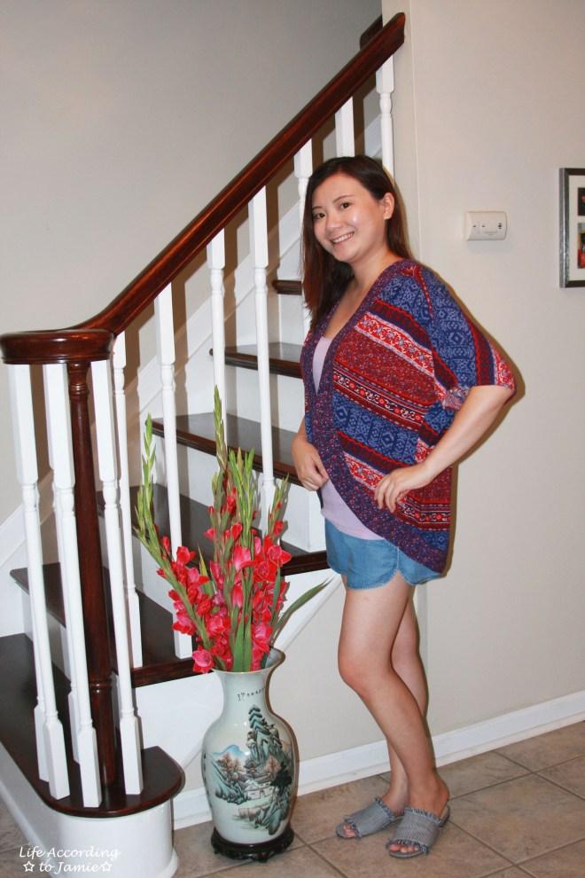 Patchwork Kimono + Tencel Shorts 4