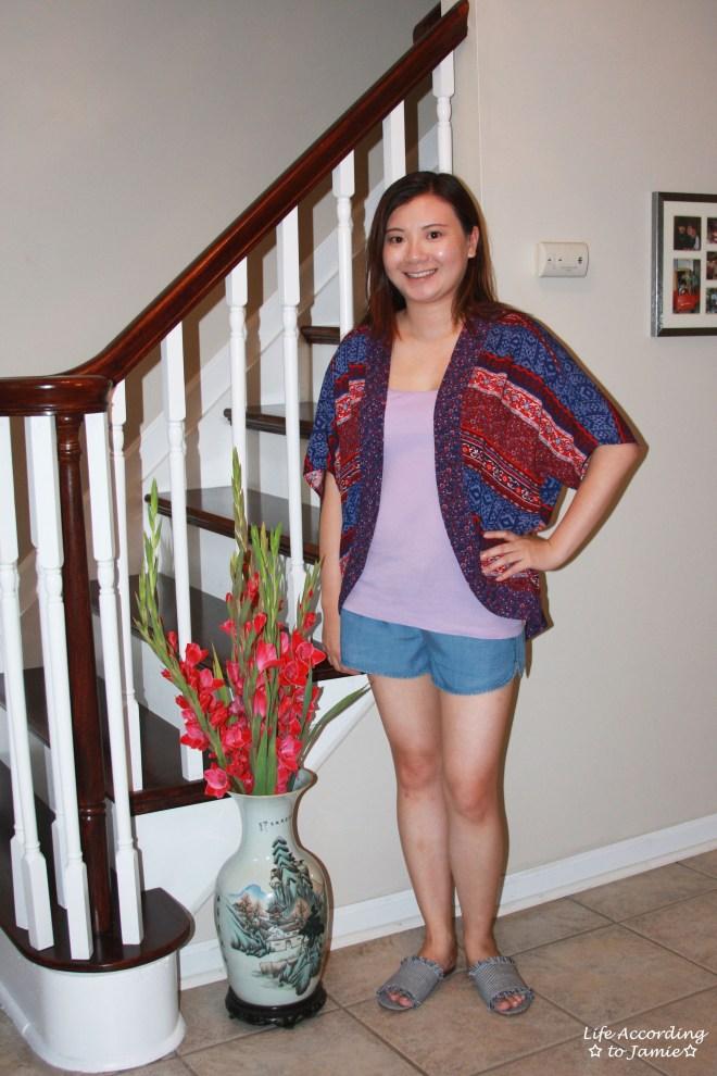 Patchwork Kimono + Tencel Shorts