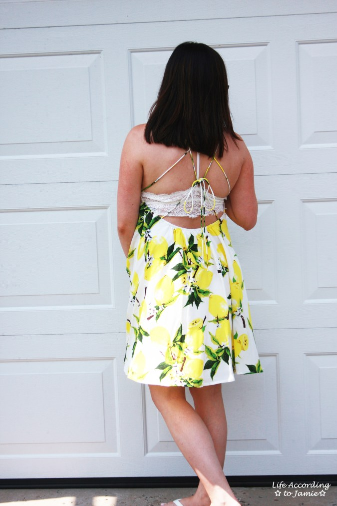 Strappy Lemon Print Dress 1