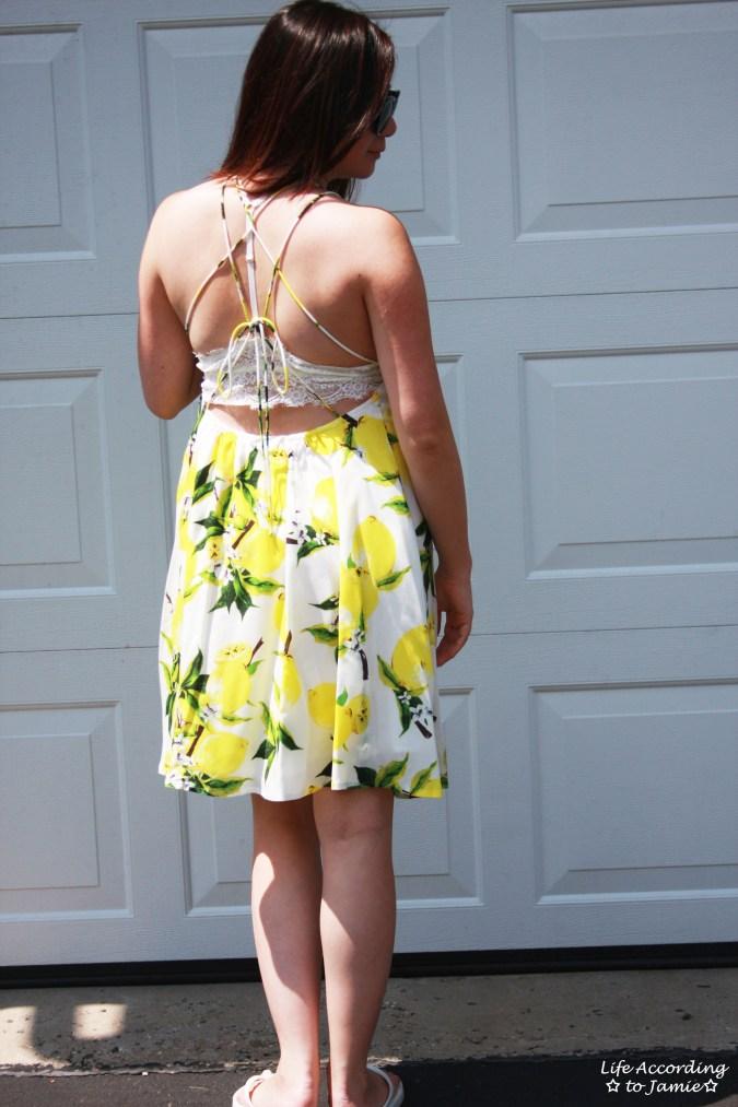 Strappy Lemon Print Dress 2