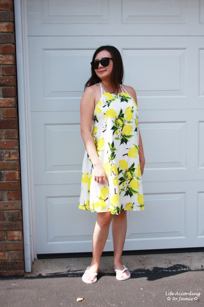 Strappy Lemon Print Dress 9