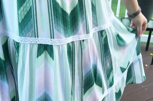 Isla Stripe Lace Midi Dress