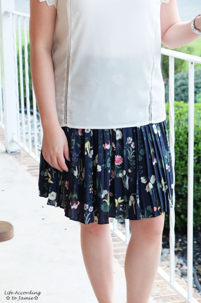 Valley Floral Pleated Skirt 3