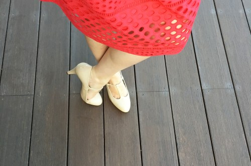 Watermelon Pop Eyelet Skirt