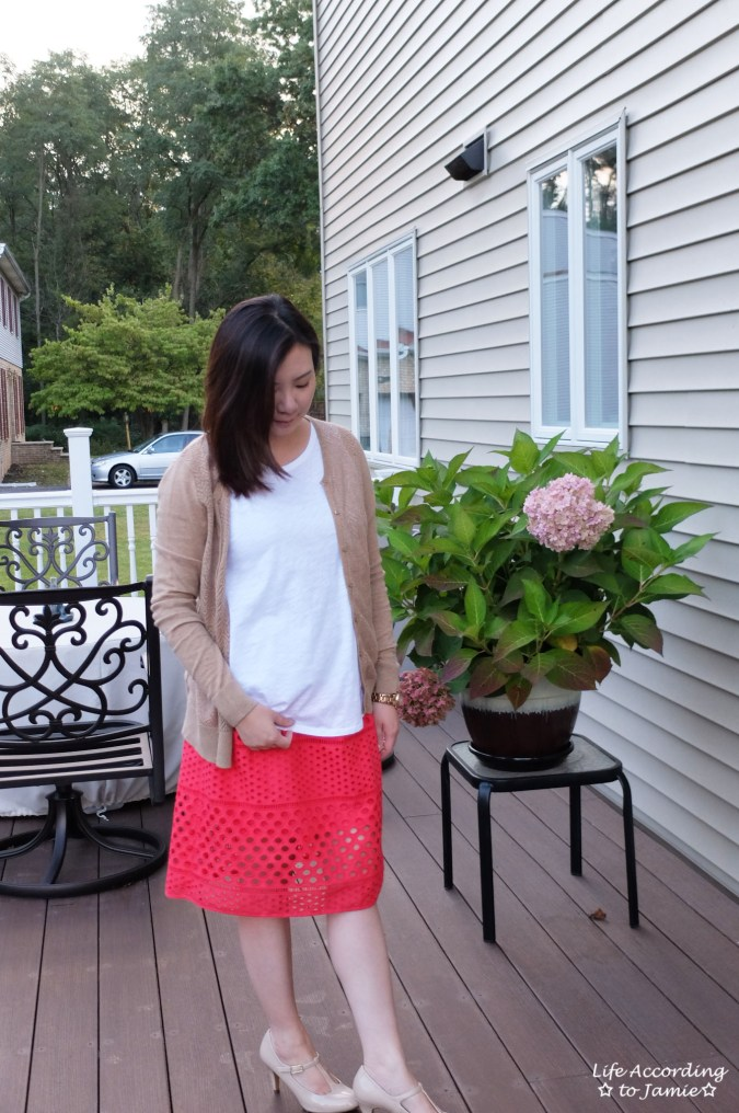 Watermelon Pop Eyelet Skirt 2