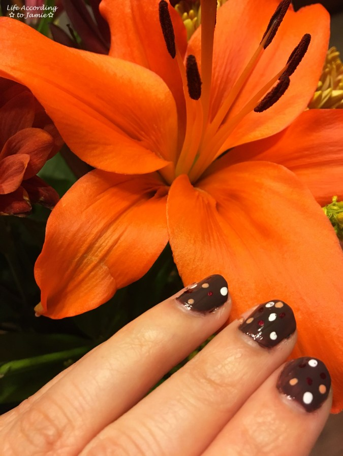 Fall Polka Dot Nails 2
