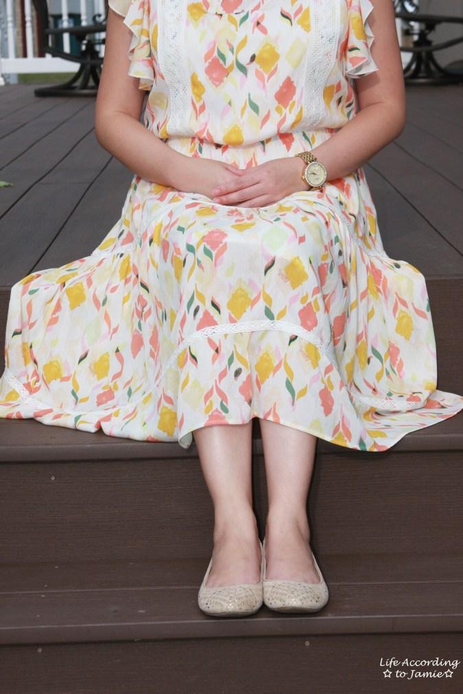 Fez Geo Lace Midi Dress 14