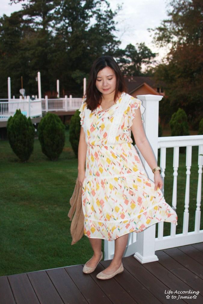 Fez Geo Lace Midi Dress 4