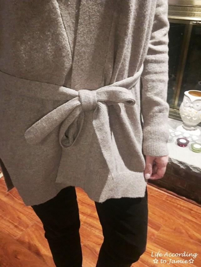 Taupe Sand Wrap Cardigan